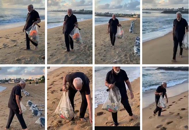 نخست وزیری که برای حفظ آبرو زباله جمع میکند+فیلم