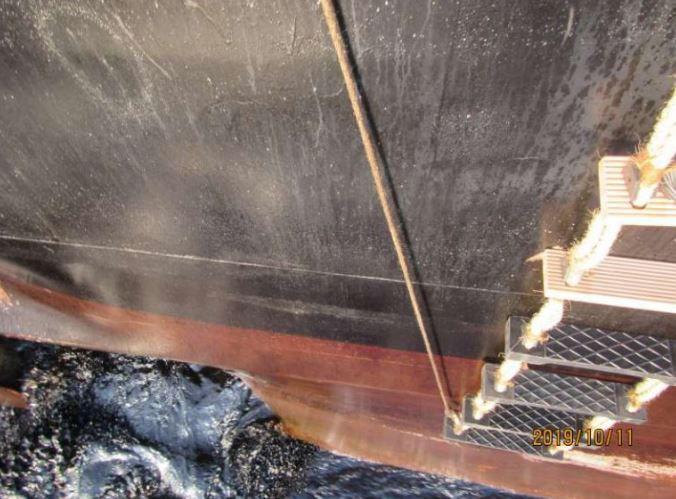 اولین تصاویر از محل اصابت موشک به نفتکش ایرانی سابیتی