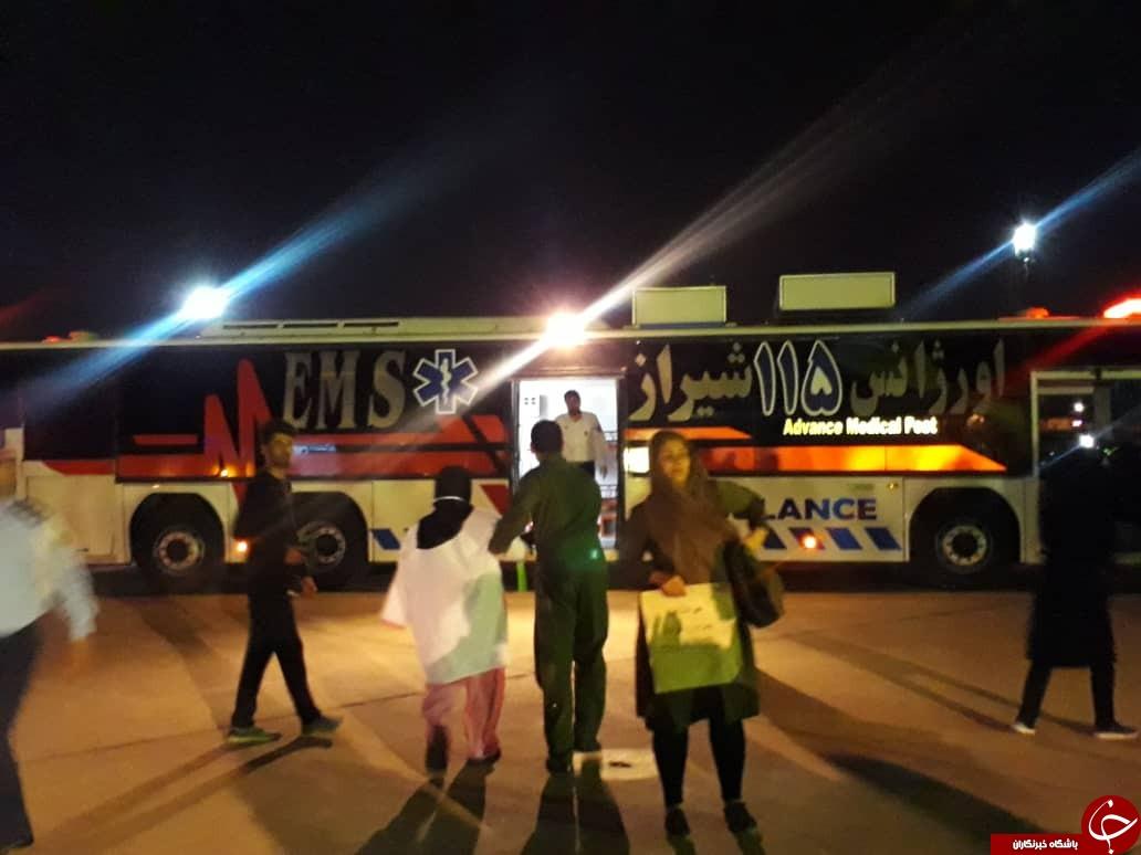 ۳۲ مصدوم حادثه کربلا به شیراز انتقال داده شدند + تصاویر و فیلم