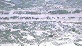 باشگاه خبرنگاران -تصاویر هوایی از طغیان رودخانه در ژاپن و فرو رفتن خانهها به زیر آب