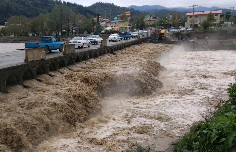 خسارت بارش شدید باران به برخی تاسیسات زیربنایی در گیلان