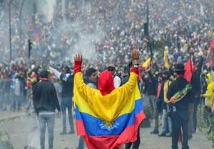 اولین نشست دولت و مردم معترض در اکوادور