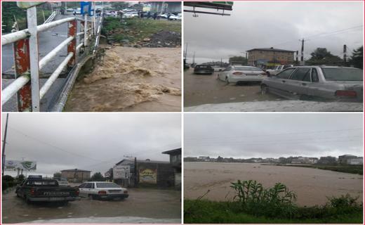 بارش شدید باران در گیلان با تخریب سه پل/