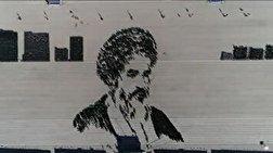 باشگاه خبرنگاران - ترسیم چهره امام خمینی(ره) و شهید حججی در حضور رهبر انقلاب + فیلم