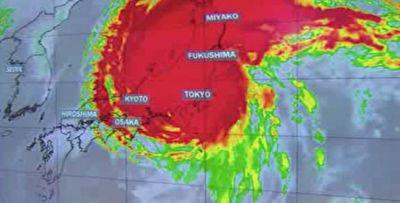 ورود پرخطرترین طوفان ۳۰ سال گذشته به ژاپن + فیلم