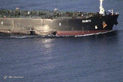 تصاویر جدید از محل آسیبدیدگی نفتکش SABITI 