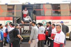 ارائه خدمات به زائران اربعین کشور عراق توسط هلال احمر خراسان رضوی