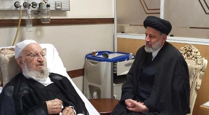 باشگاه خبرنگاران -عیادت رئیس قوه قضاییه از آیت الله مکارم شیرازی