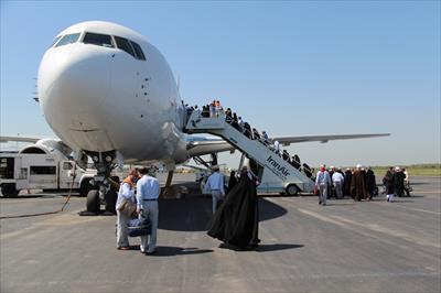 انچام ۱۰۸ پرواز رفت و برگشت برای جابجایی زائران اربعین/پروازهای اربعین تاخیر نداشت