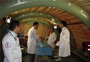 باشگاه خبرنگاران - بیمارستان صحرایی ۵۰ تختخواب نیروی هوایی ارتش در منطقه مرزی مهران راهاندازی شده است