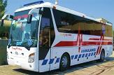 باشگاه خبرنگاران - اعزام اتوبوس آمبولانس قم به فرودگاه تهران