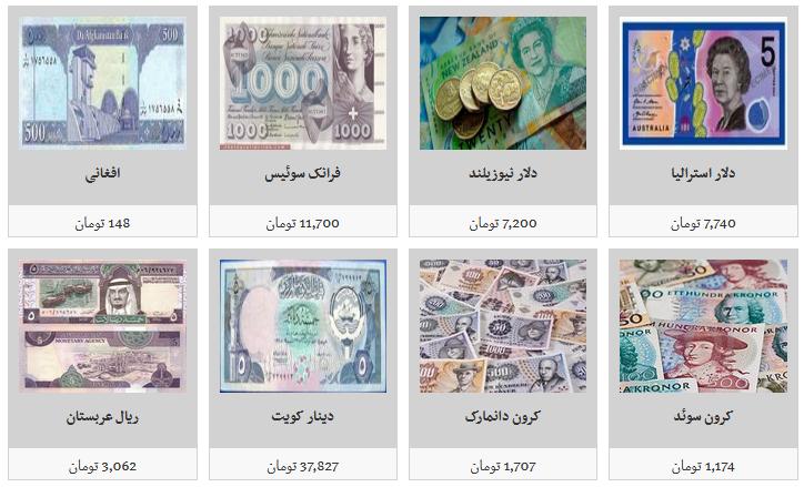 نرخ فروش ارز در صرافی های مجاز/ یک هزار دینار عراق به قیمت ۱۰ هزار و ۷۰۰ تومان