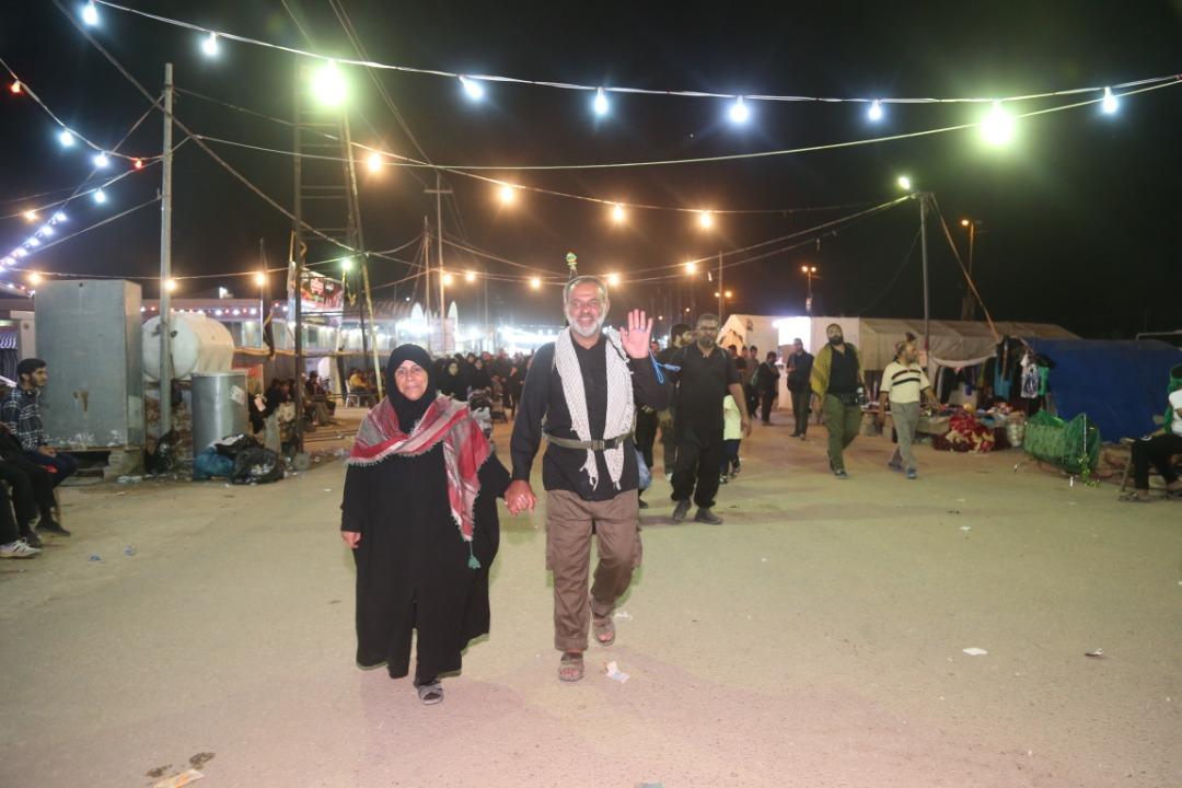 حال و هوای زائران حسینی در مسیر پیادهروی اربعین + تصاویر
