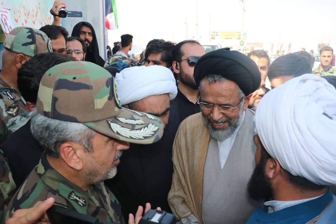 حضور وزیر اطلاعات در موکب شهدای مدافع حرم نزاجا
