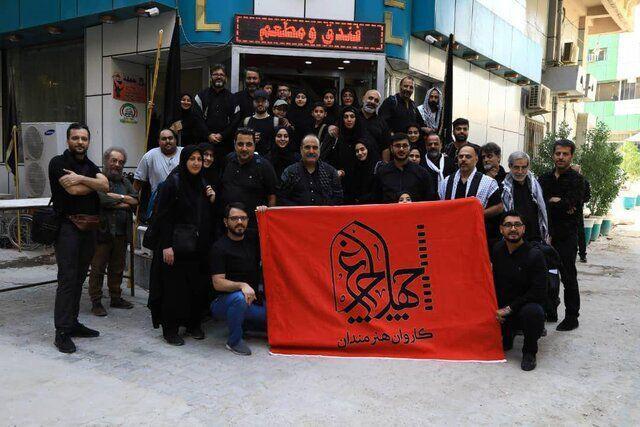 مسعود فراستی در کاروان پیادهروی اربعین