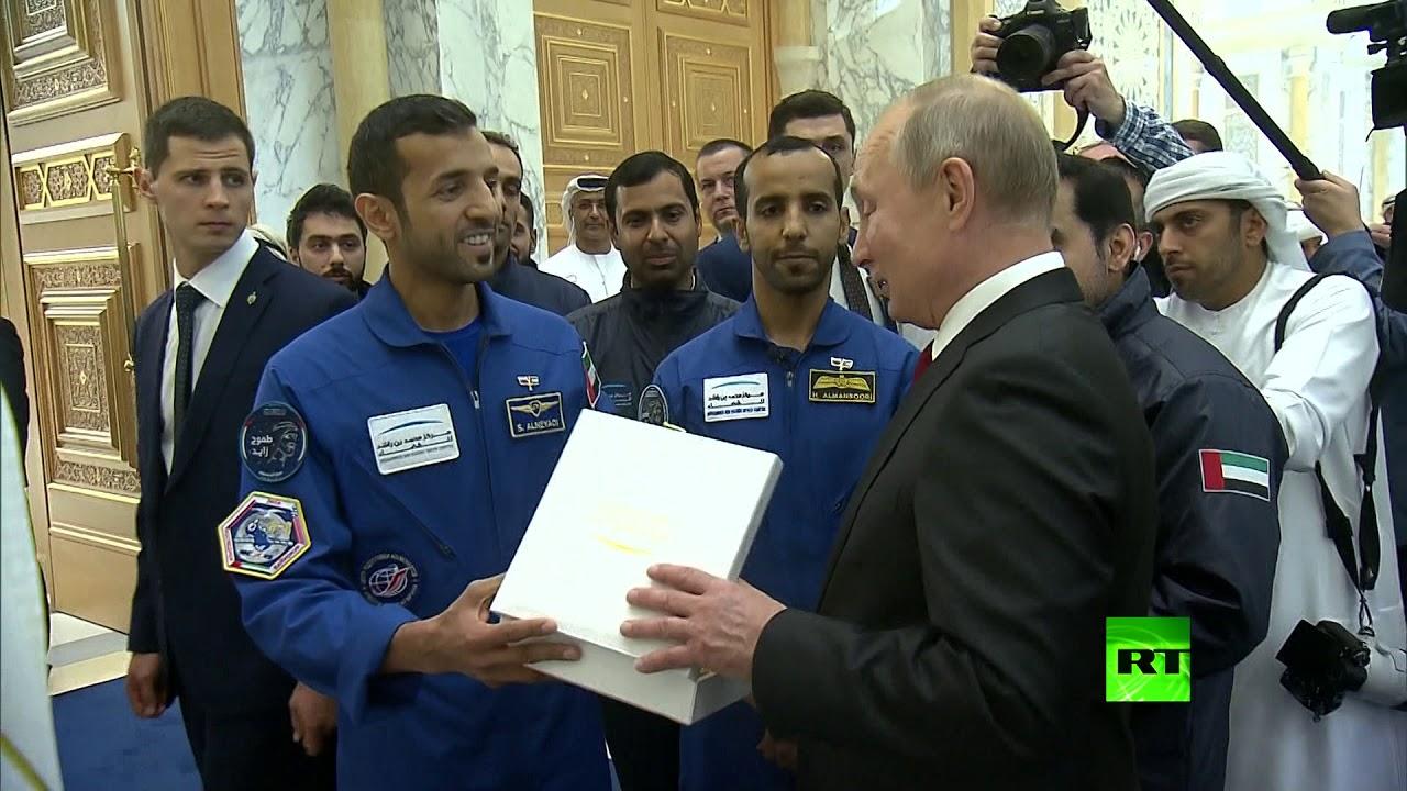 روسی صحبت کردن فضانوردان اماراتی با پوتین+فیلم