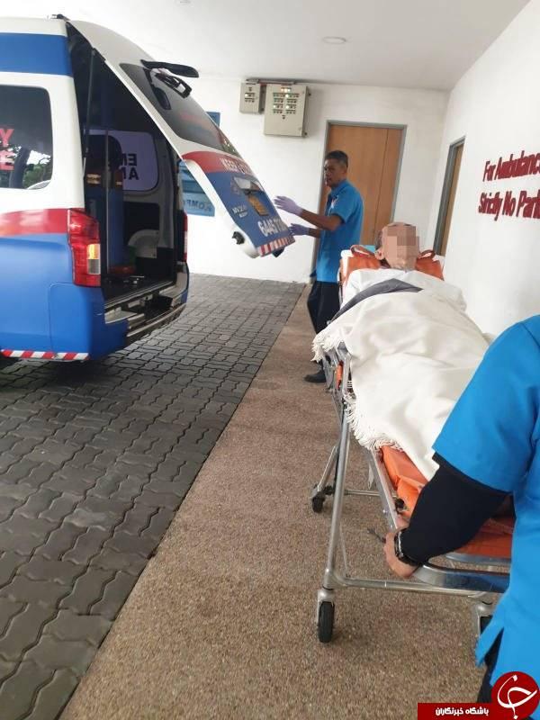 اقدام راننده پورشه بی فرهنگ در مقابل خودروی آمبولانس! +تصاویر//