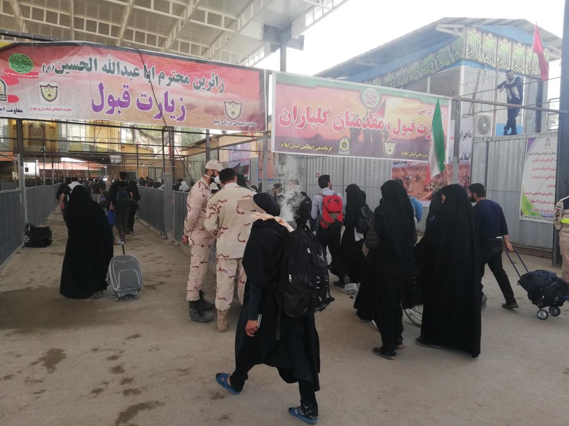 ۵ هزار و ۳۰۰ دستگاه اتوبوس روزانه کار انتقال زائران در مرز مهران را انجام میدهند