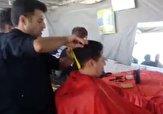 باشگاه خبرنگاران -آرایشگاه صلواتی برای زائران اربعین حسینی + فیلم