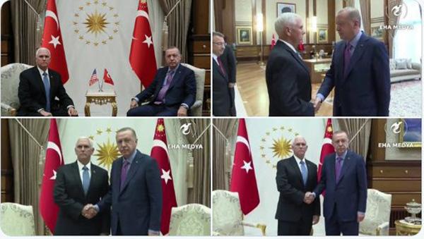 اردوغان و پنس در آنکارا با هم دیدار کردند