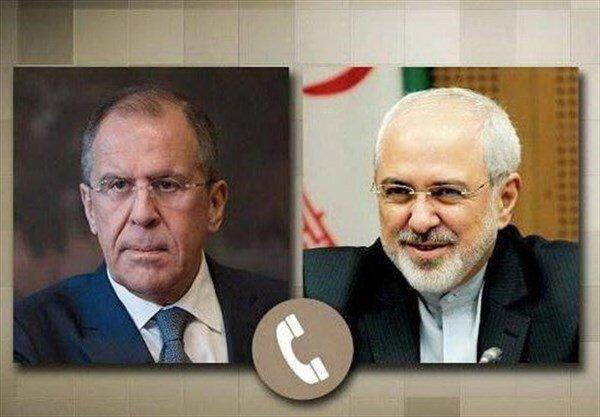 ظریف با وزیر خارجه روسیه تلفنی گفتوگو کرد