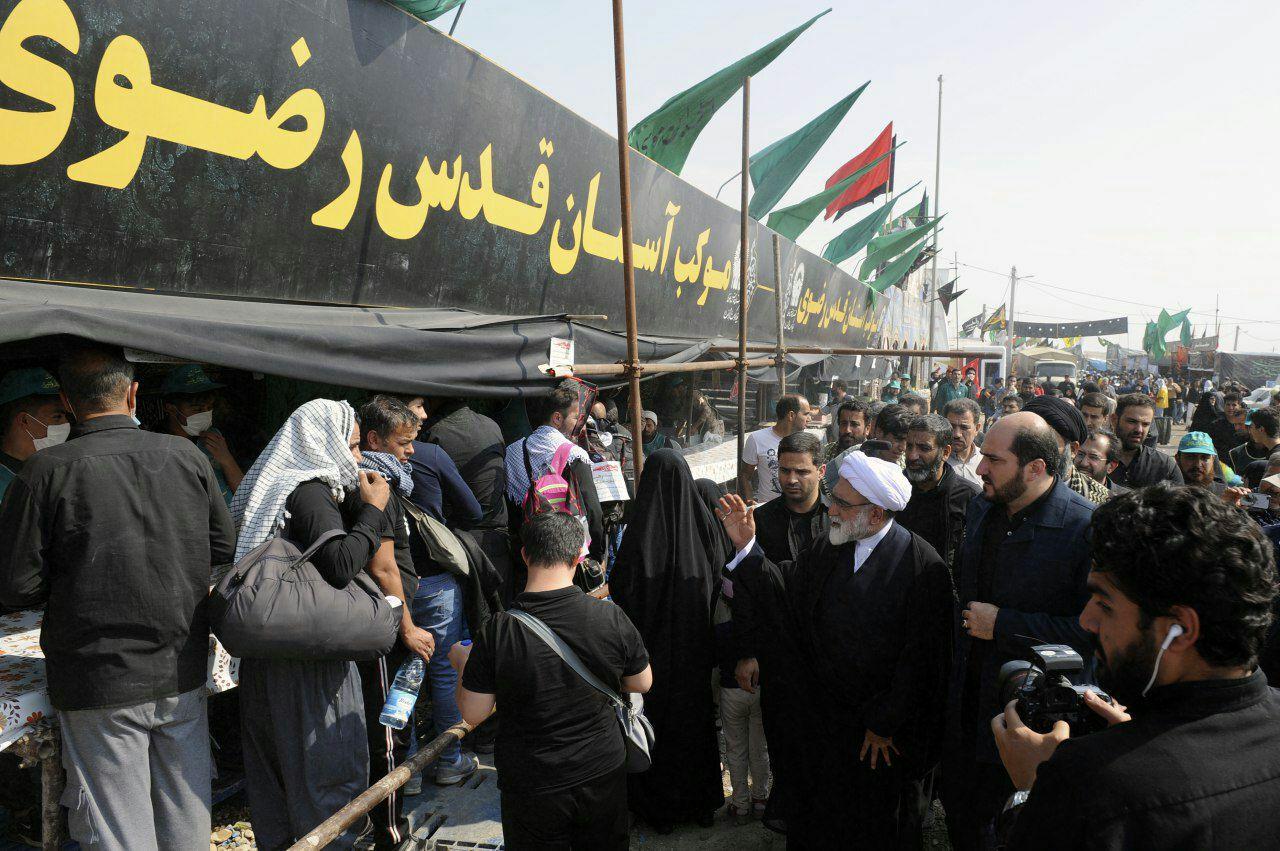 بازدید تولیت آستان قدس از مرز مهران+ تصاویر