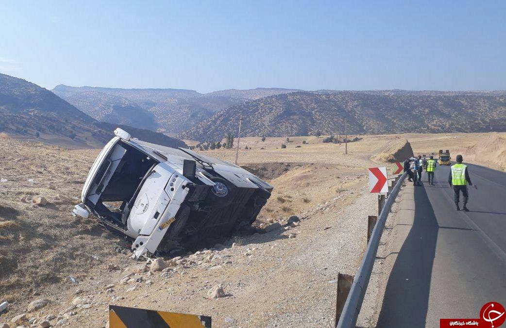 جزییات حادثه واژگونی اتوبوس زائران