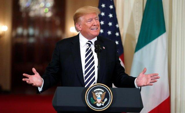 واکنشهای دیدنی مترجم دیدار ترامپ با رئیس جمهور ایتالیا! +فیلم
