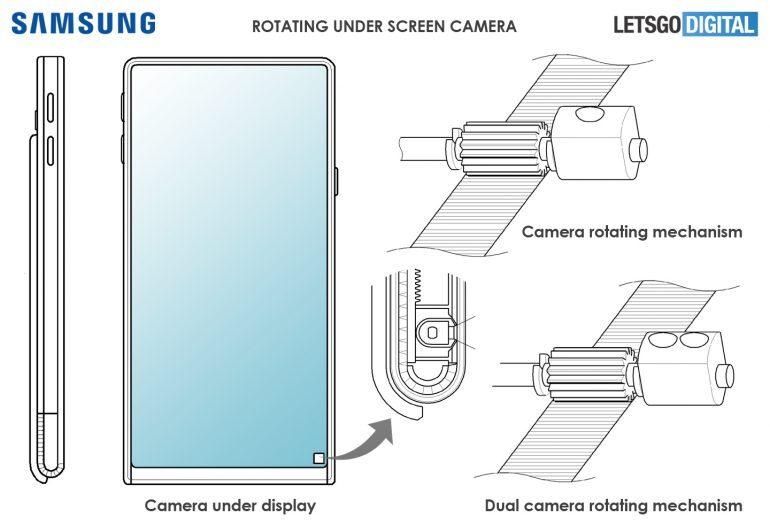 دوربین سلفی زیر صفحه نمایش، طراحی گوشی آینده سامسونگ + تصویر