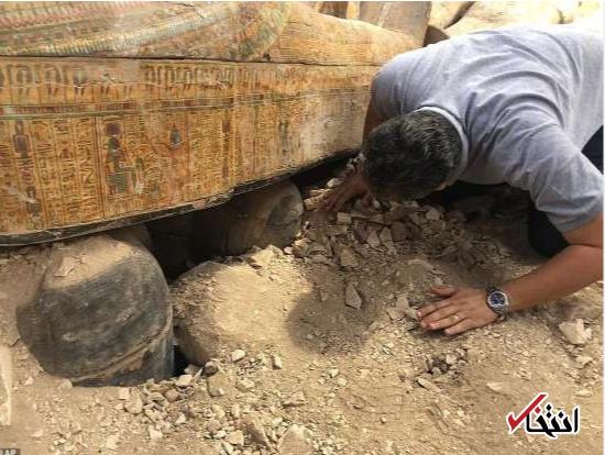 کشف تابوتهای چوبی باستانی از شهر مردگان مصر + تصاویر