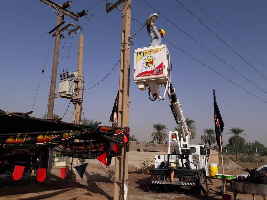 خدمترسانی  شرکت توزیع نیروی برق استان همدان به زئران حسینی