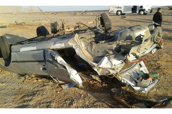 واژگونی خودرو قاچاق انسان حادثه آفرید /۱۱نفرکشته ومجروح شدند