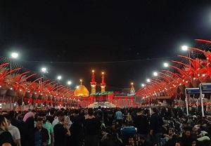 حرم امام حسین (ع) مملو از زائران اربعین از ۵۵ کشور جهان