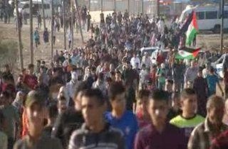 نه با سازش، شعار فلسطینیها در راهپیمایی بازگشت + فیلم