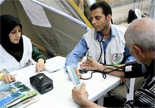 خدمات درمانی به بیش از ۱۰۰ هزار زائر
