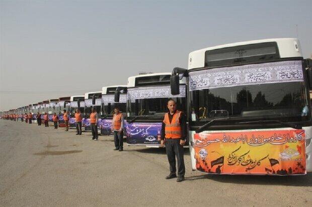 جابجایی زوار اربعین با ۳۵۰۰ دستگاه اتوبوس