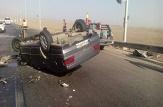 باشگاه خبرنگاران -۶ مصدوم براثر واژگونی خودروی سواری آر دی در مبارکه