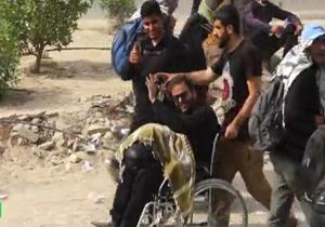 زائر ویلچری که در پیادهروی اربعین تنها نماند + فیلم