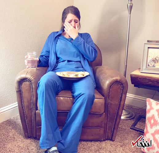 تصویری از یک پرستار گریان پربینندهترین تصویر روز شد
