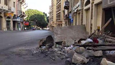 پاکسازی خیابانهای بیروت توسط مردم پس از ناآرامیهای شب گذشته + فیلم