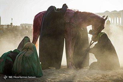 مراسم تعزیه در امامزاده شاه کرم اصفهان