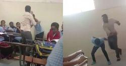 تنبیه جنون آمیز دانش آموز در مقابل همکلاسیهایش! + فیلم