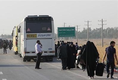بازگشت بیش از ۹۵ درصد از زائران به مرزهای کشور/ جابجایی ۴۵ درصد زوار از طریق ناوگان اتوبوسرانی