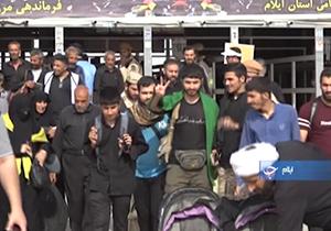 آمار بازگشت زائران حسینی از مرزهای چهارگانه ایران با عراق + فیلم