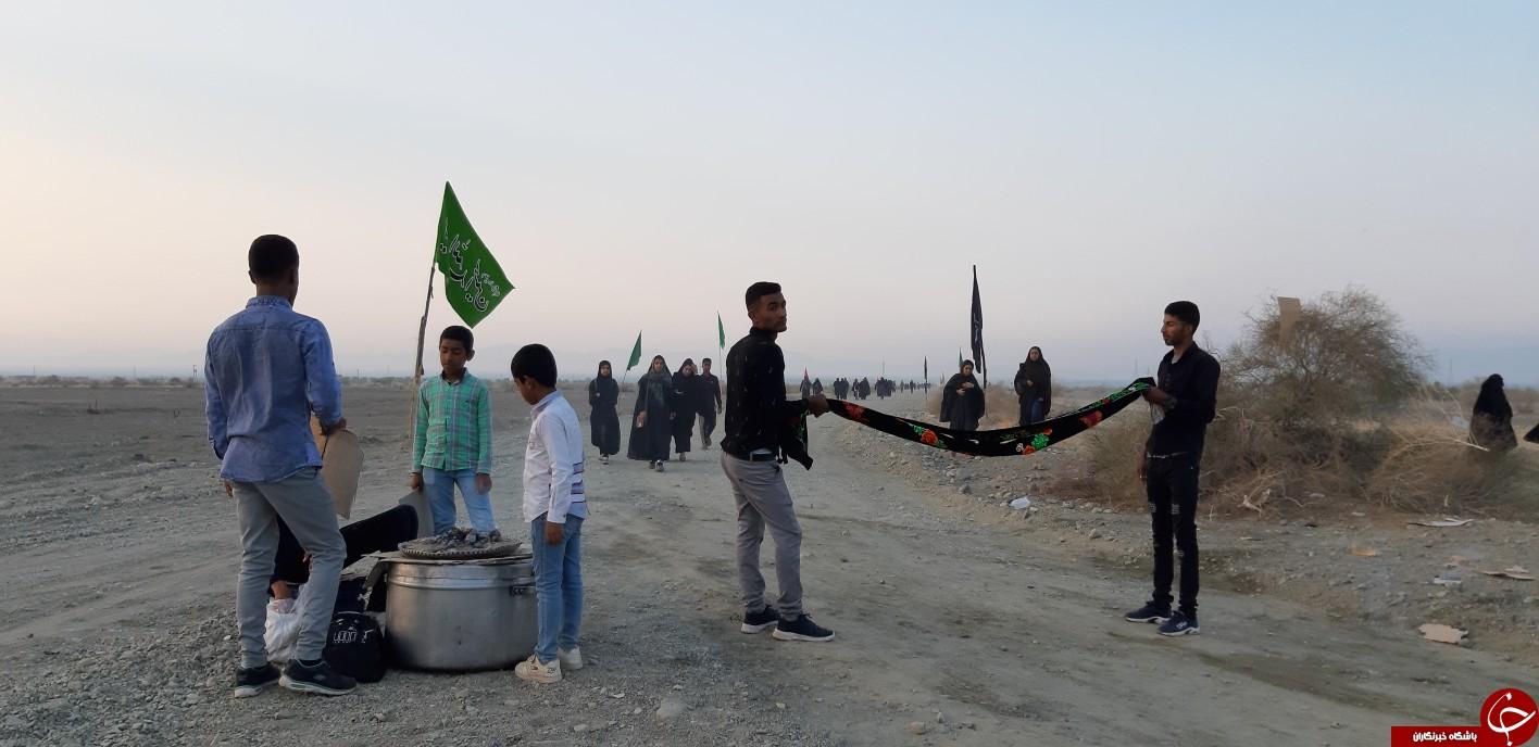 یک روز با موکب داران پیاده روی جاماندگان اربعین در منوجان