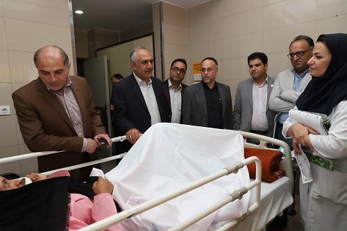 ارائه خدمات درمانی به مصدومان حادثه  اتوبوس کربلا در شیراز