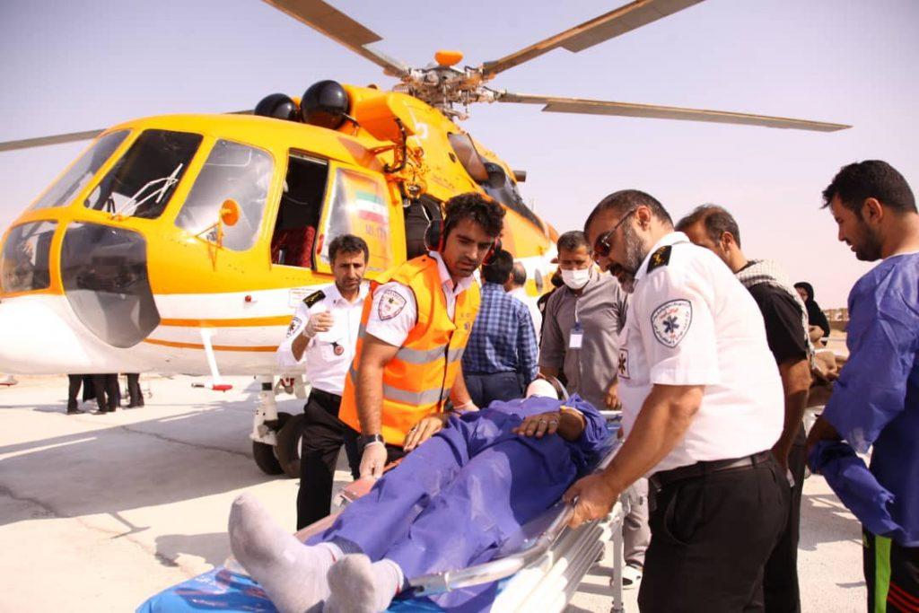 انتقال ۵۵۴ زائر مصدوم و بیمار به مرزهای ایران/ انتقال ۱۸۸ نفر زائر اربعین با آمبولانس هوایی