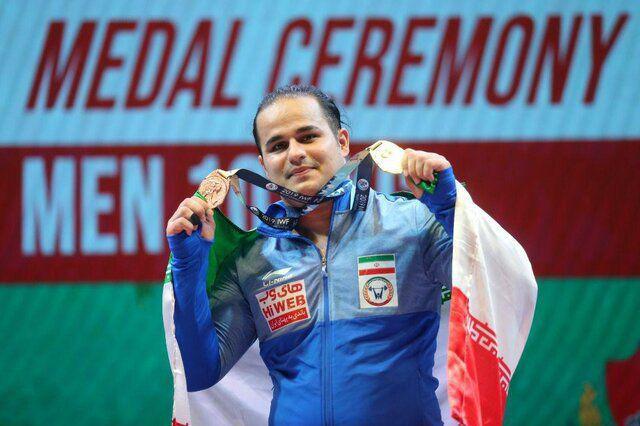باشگاه خبرنگاران -اولین طلای ایران در مسابقات وزنه بردای قهرمانی جهان + فیلم