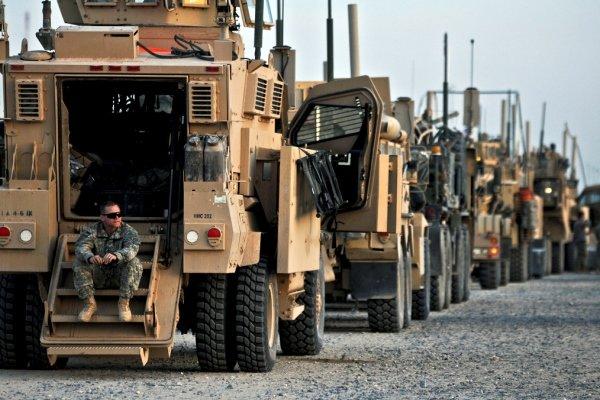 ورود یکصد خودروی زرهی آمریکا از سوریه به عراق