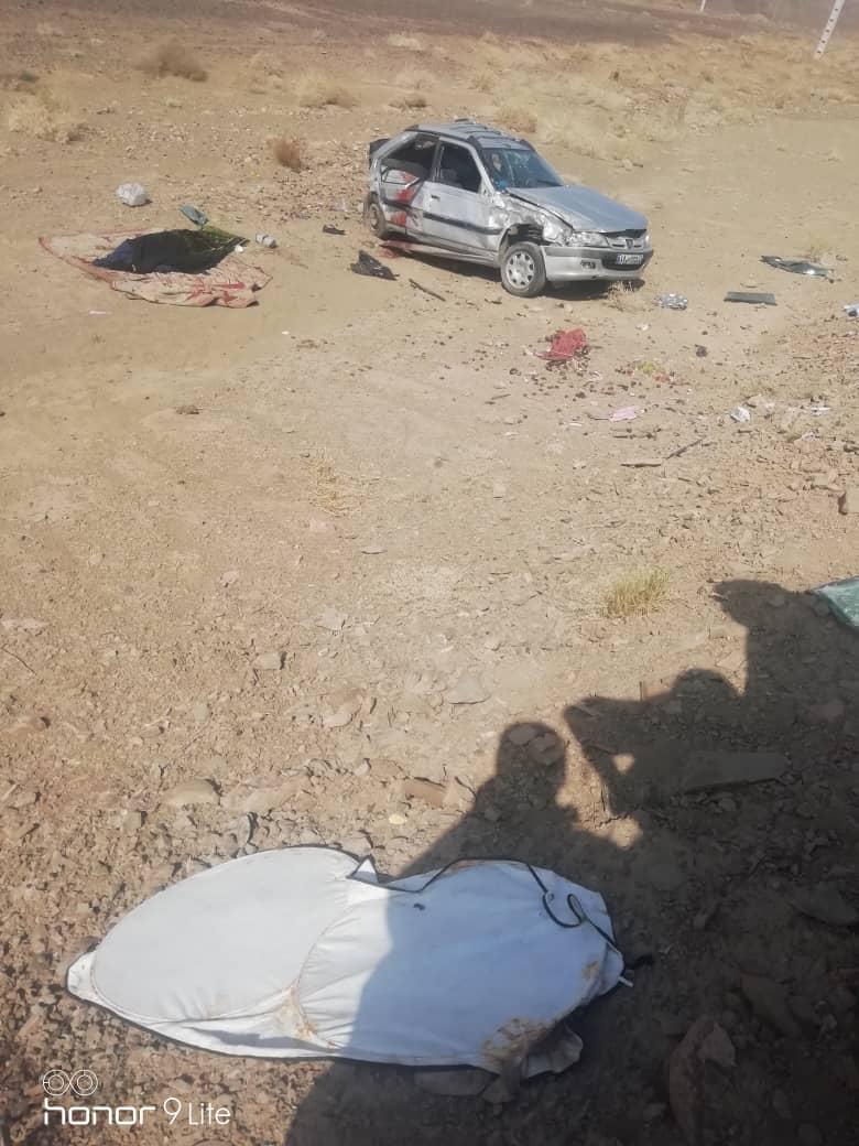 سانحه رانندگی در محور سیب وسوران /۲ نفر در دم جان باختند+عکس